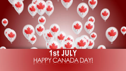 happy canada day Animation