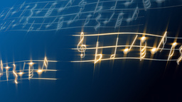 music notes Animation