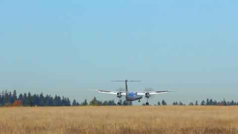 Airplane Landing Footage