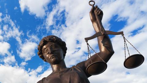 Justice statue Footage
