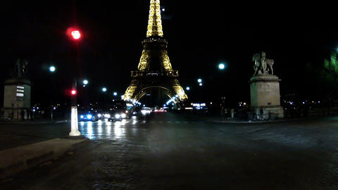 Paris By Night 07 stock footage