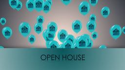 happy open house Animation