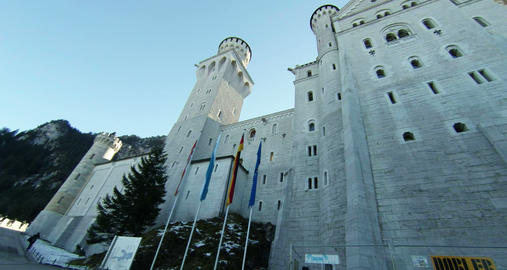 Neuschwanstein Castle Bavaria Germany Footage