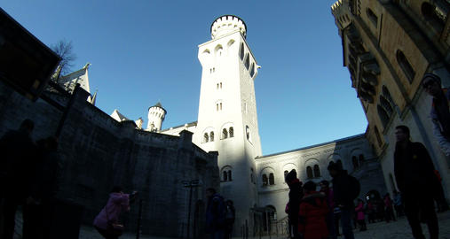 Neuschwanstein New Swanstone Castle Bavaria German Footage