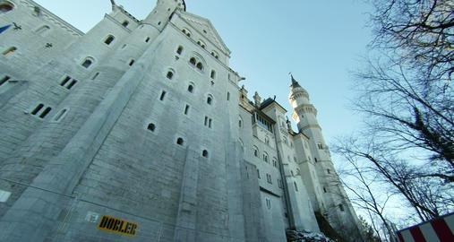 Neuschwanstein New Swanstone Castle Bavaria German Footage