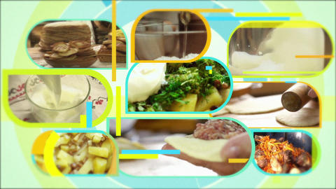 Food Montage Intro Videowall Seamless Loop Footage