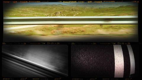 4K Collage of Road Movie Footages Footage