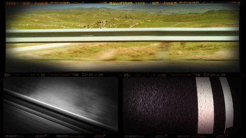 Collage of Road Movie Footages Footage