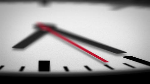 HD Clock Face Macro Angle Of Second Hand stock footage