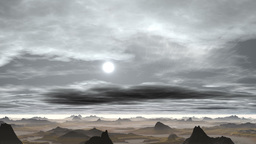 The sun comes out from behind the clouds Animation