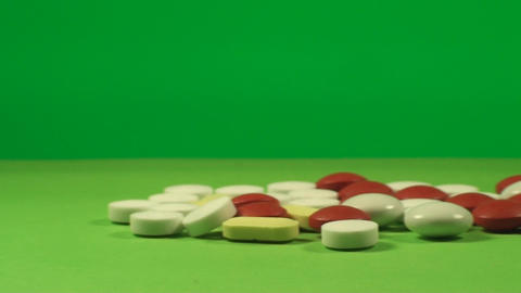 A Pile Of Pills On A Green Screen, Chroma, Key, Me Footage