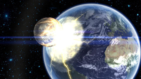 Asteroid Hitting Earth Animation