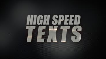 High Speed Texts - Apple Motion Template