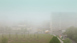 Fog in city, timelapse Footage