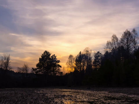 Evening comes. Time Lapse. 640x480 Footage