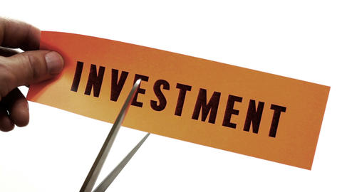Cutting Investment Concept Footage