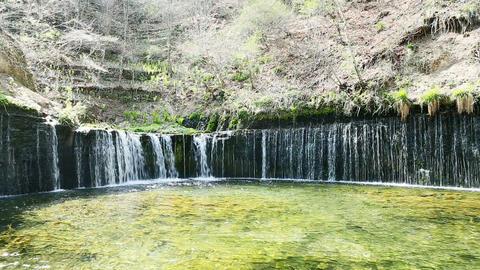Shiraito Falls stock footage