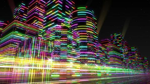Neon Light City F 3 Aa 4 4k Animation