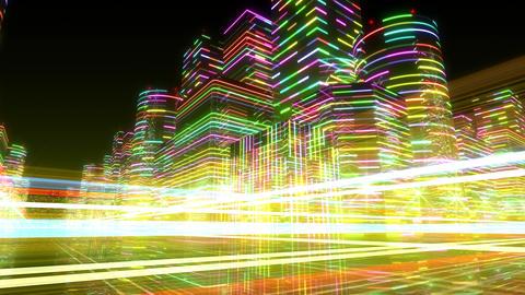Neon Light City R 1 Aa 4 4k Animation