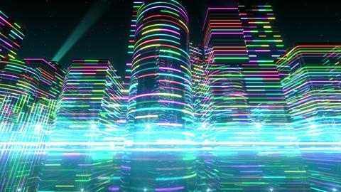 Neon Light City S 1 Aa 4 4k stock footage