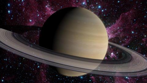 Planet Saturn Animation