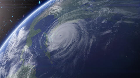 Satellite View of Hurricane Animation