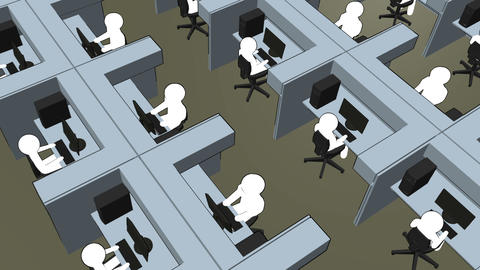 Cubicle Zoom In Animation