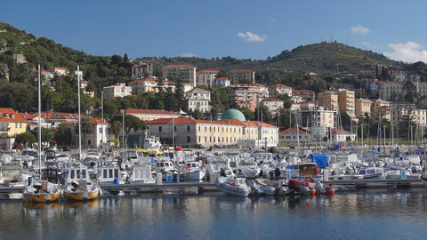 Imperia Harbor stock footage