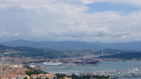 La Spezia Harbor stock footage