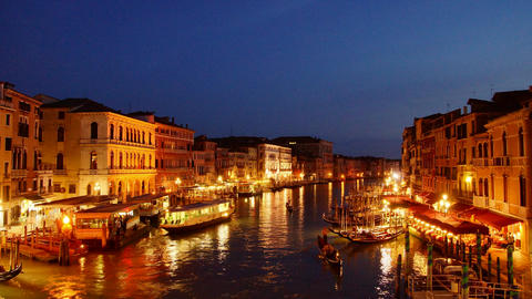 Venice at night Footage