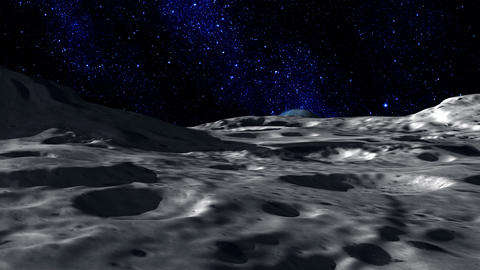 Moon Surface Stock Video Footage