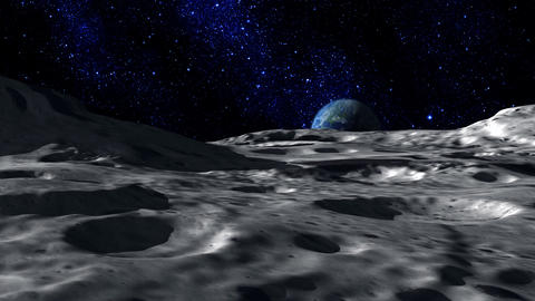 Moon Surface stock footage