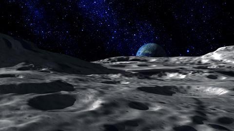 Moon Surface stock footage