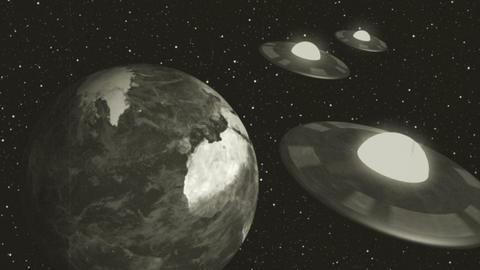 Retro Space Aliens Animation