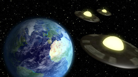 Space Aliens Visit Earth Animation
