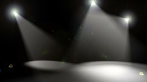 Spotlights on Black CG動画素材