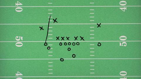 Football Play On Field stock footage