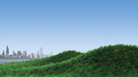 Grass on Hill by City Animation
