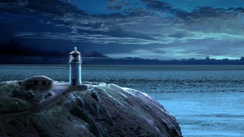 Lighthouse at Night Animation