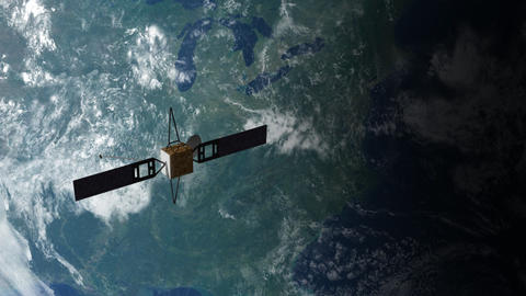 Satellite in Orbit 2 Animation