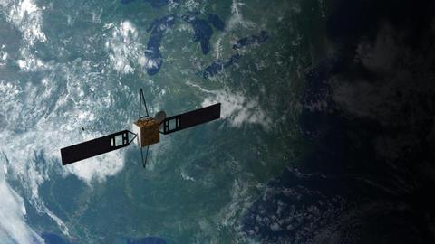 Satellite in Orbit 2 Animation