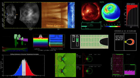 Scientific Data Animations stock footage