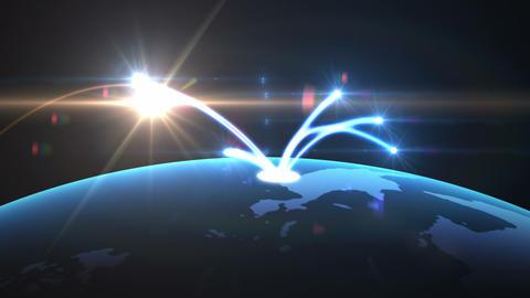 Global network Animation