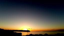 Beautiful Sunrise On The Sea stock footage
