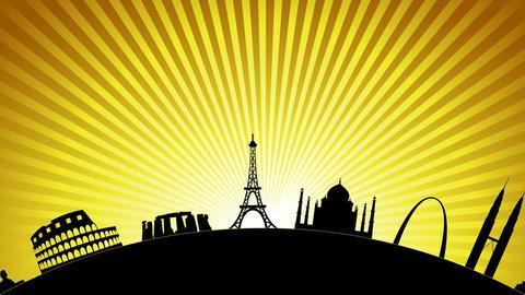World Landmarks, Stock Animation