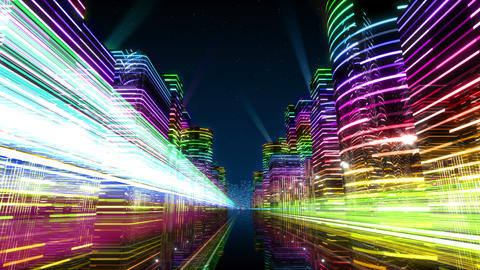 Neon Light City Z 1 Ab 4 4k stock footage