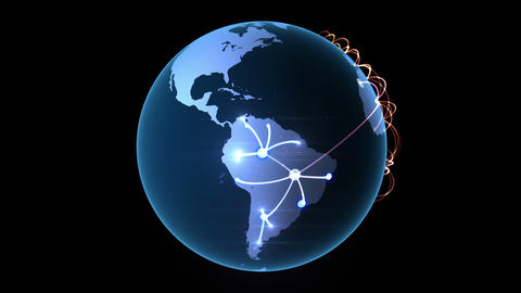Growing network across the globe Animation
