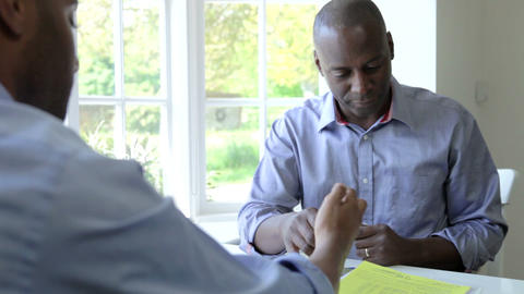 Mature Black Male Meeting With Financial Advisor A Footage