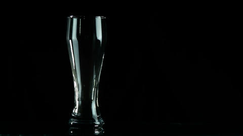 Bottle and glass Footage
