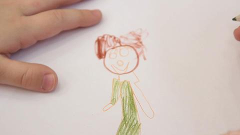 girl child draws Footage
